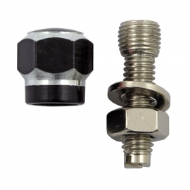 TrikTopz with License Plate Mounts - Valve Caps - Black Alloy Twotone Hex