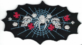 023 - PATCH - Spider with Web, Skulls and Maltese Crosses