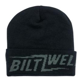 Biltwell Beanie - Black Lightning Script