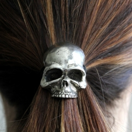Skull (Silver, Gold or Black) - Elastic Hair Band