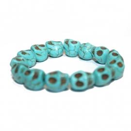 Playful Skull bracelet (turquoise)