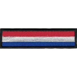PATCH - Black Border - DUTCH FLAG - HOLLAND - NETHERLANDS - NEDERLAND