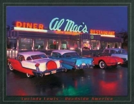 Large Metal Plate - Lucinda Lewis - Roadside America - Diner Al Mac's Restaurant
