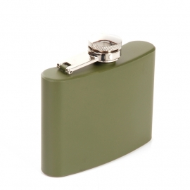 FLASK - Clean / No Logo - Olive Green - Stainless Steel - 4oz / approx. 118ml