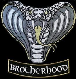 The BLACK COBRAS - central logo and bottom rocker for member jacket