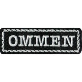 White PATCH - Flash / Stick with rope design - OMMEN