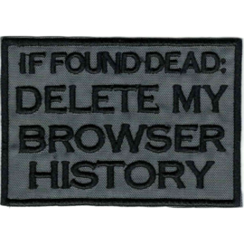 PATCH -If found dead : DELETE MY BROWSER HISTORY