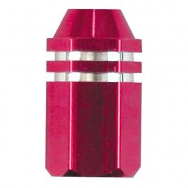 TrikTopz - Valve Caps - Pink Alloy Twotone Hex Straight