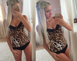 Body with Leopard Print  (Only Large left!)