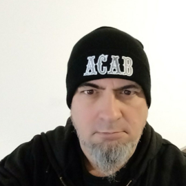 ACAB - Embroided Beanie - Black, Silver & White