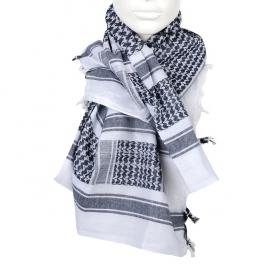 PLO Scarf - Arafat Shawl - Black & White