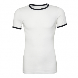 T-Shirt Marine - White