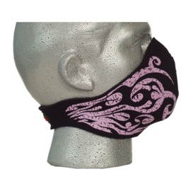 Bandero -  Lady Pink Tribal Flames Half / Face Mask