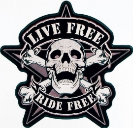 000 - BACKPATCH - Live Free, Ride Free