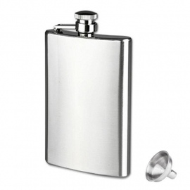 FLASK XL - Clean / No Logo - Stainless Steel - 10 oz / approx. 295ml