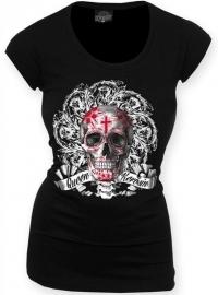 Queen Kerosin - Flower Skull - Longshirt
