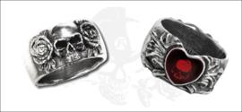 Alchemy England - RING - Skulls and a Broken Heart
