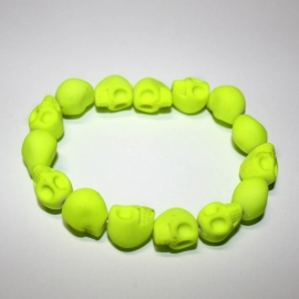 Playful Skull bracelet (reflective? yellow)