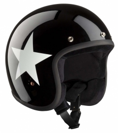 BANDIT - ECE - Jet Open Face Helmet - Star Design [Shiny Black]
