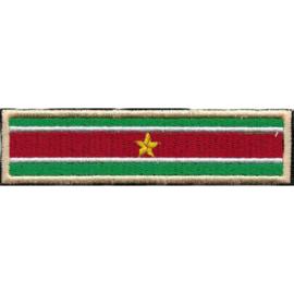 GOLDEN PATCH - STICK - SURINAM FLAG - Suriname