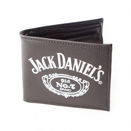 Jack Daniel's - Bifold Wallet - Black Leather - Small Logo