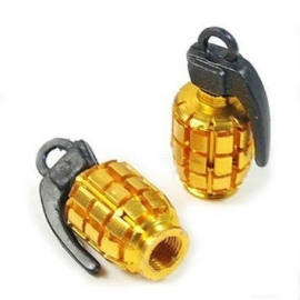 Valve Caps - Yellow / Sunburst Grenades