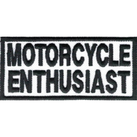 PATCH - White & black  - Motorcycle Enthusiast