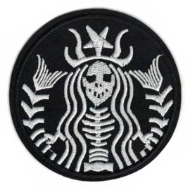 PATCH - STARBUCKS logo - Skeleton style - COFFEE