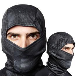 Ninja Balaclava - Black Rattlesnake - Cobra