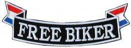 Bottom Rocker - Banner - Free Biker with Dutch Flag - Holland - Netherlands - Nederland