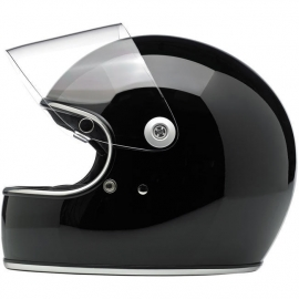 Biltwell INC - Gringo 'S' Full Face Helmet with Visor - DOT [Glossy Black]