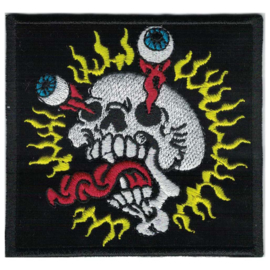 PATCH - Skull with popping eyes and tongue - FREAK