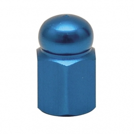 TrikTopz - Valve Caps - Blue Alloy Hex Domed
