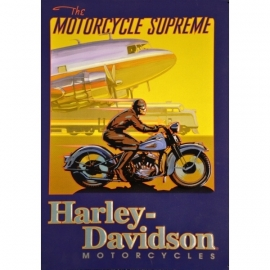 Harley-Davidson - Original Large Metal Plate / Tin Sign - The Motorcycle Supreme