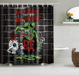 Shower Curtain / Room Divider - RatFink - EyeBall
