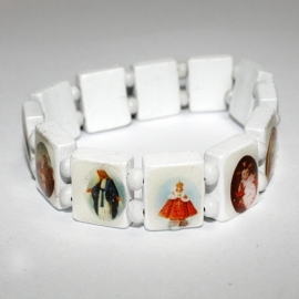 Holy Saints bracelet (white)