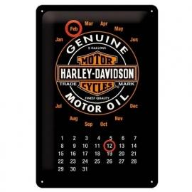 Harley-Davidson - Metal Plate / Tin Sign - Logo Calendar
