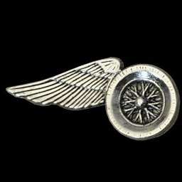 P147 - PIN - One-Winged Motorcycle Wheel