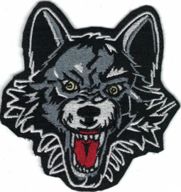 021 - PATCH - Wolf Showing Teeth