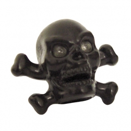TrikTopz - Valve Caps - Black Skulls with Crossed Bones