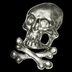 P138 - PIN - 3D - Skull and Bones