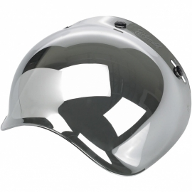 Biltwell INC - Bubble CHROME MIRROR / SMOKE Tint Jet Visor