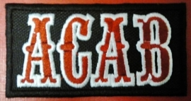 082 - PATCH - ACAB - Red & White Lettres