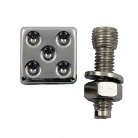 TrikTopz with License Plate Mounts - Valve Caps - Chrome Dice