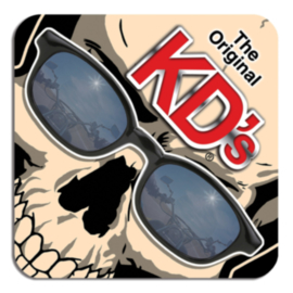Original KD's - Square Coaster - FELT - SKULL with Sunglasses