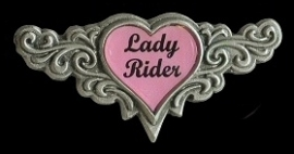 P183 - PIN - Lady Rider - Tribal Pink Heart