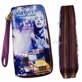 Marilyn Monroe - Purple Wallet with Zippers - 80th Anniversary