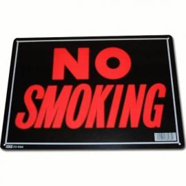 Light Metal Plate / Tin Sign - No Smoking