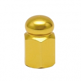 TrikTopz - Valve Caps - Golden Alloy Hex Domed