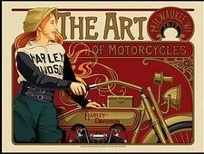 Harley-Davidson - Original Large Metal Plate / Tin Sign - The art of Motorcycles - Milwaukee WI 1917